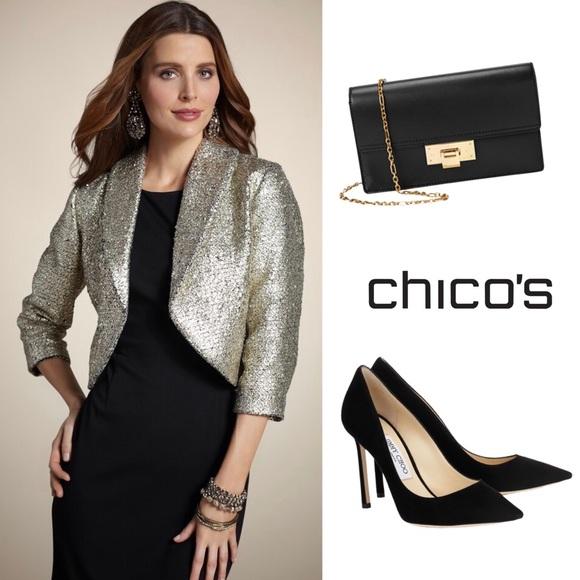 Chico's Jackets & Blazers - CHICO'S TRAVELERS HOLLY GOLD BOLERO JACKET 3 = 16